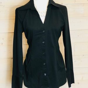 Express Design Studio Black Button Up Shirt